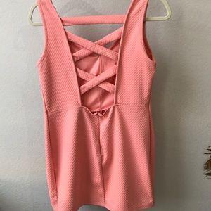 Charlotte Russe Pink Mini/Open back Dress